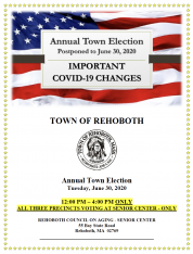 Important COVID-19 Changes - 6-30-2020 Annual Town Election