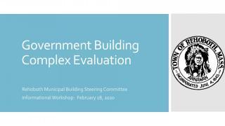 Workshop presentation February 2020